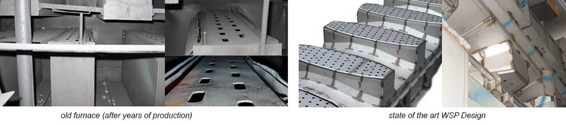 Inner Views of WSP floatation furnace before after