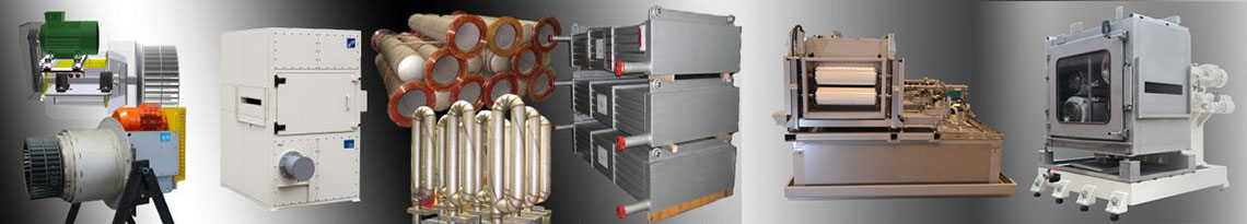 Spare Parts - Heat Exchangers, Hot Gas Fans, Radiant Tubes